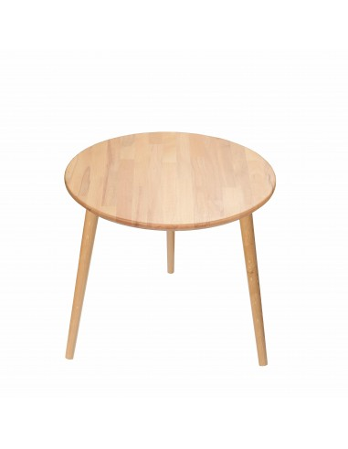 Round table made of solid beech - 1