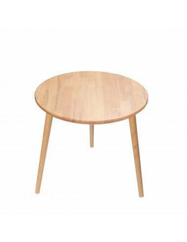 Runder Tisch aus massiver Buche - 1