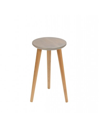 Round stool made of solid oak - 1