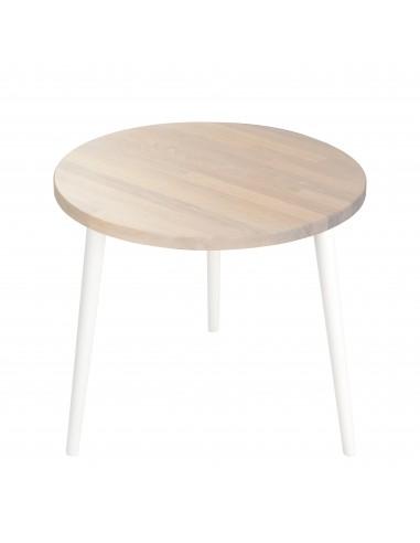 Ein runder Tisch aus massiver Eiche - 1