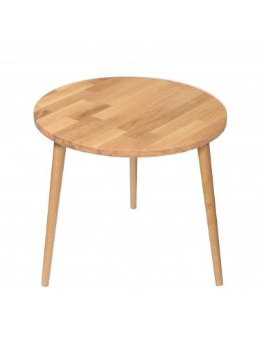 Stolik z litego dębu okrągły | Stoliki - moonwood.pl, Stolik z litego dębu okrągły Stoliki - BASSO-600-D-540-MO