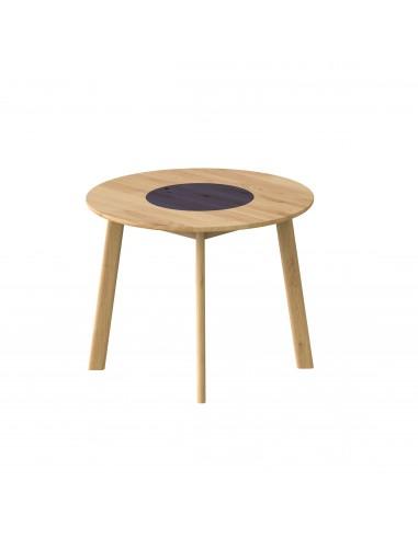 Stół okrągły z pokrywą, Stół dębowy okrągły z pokrywą BÓN BÓN - BONST02-107