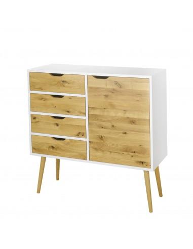 Komoda BOX, 1-Drzwi 4-Szuflady | Komody - moonwood.pl, Komoda biała lub czarna BOX, 1-Drzwi 4-Szuflady BOX - BOXKM02