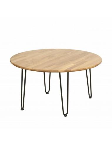 Round oak table, Iron Oak - 2