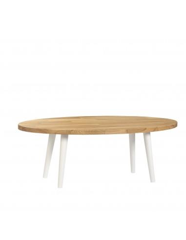 Solid oak oval coffee table - 2