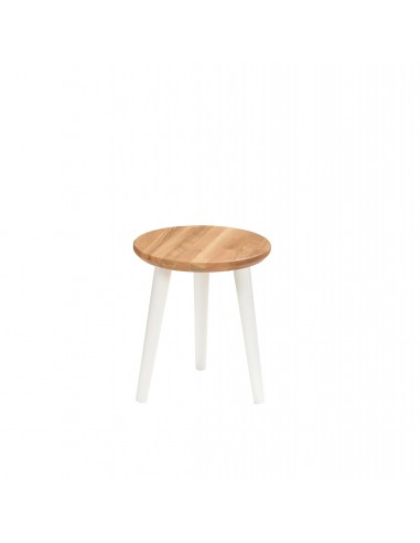 Round stool made of solid oak - 3