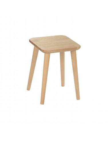 Solid oak square stool - 7