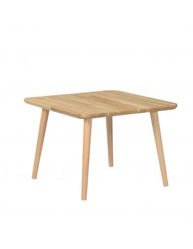 Quadratischer Tisch aus massiver Eiche - 7