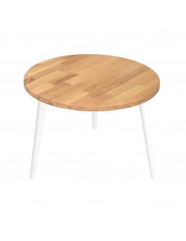 Ein runder Tisch aus massiver Eiche - 58