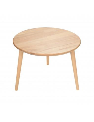 Stolik okrągły z litego buka | Stoliki - moonwood.pl, Stolik okrągły z litego buka Basic - BASSO-B
